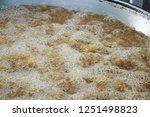 fried chicken is delicious in... | Shutterstock . vector #1251498823