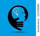 human head thinking a new idea | Shutterstock .eps vector #125150084