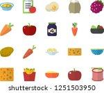color flat icon set colander... | Shutterstock .eps vector #1251503950