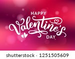 happy valentines day with... | Shutterstock .eps vector #1251505609