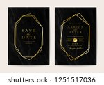 wedding invitation cards with... | Shutterstock .eps vector #1251517036