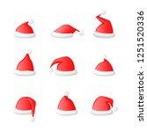santa claus  hat set icon...   Shutterstock .eps vector #1251520336