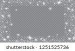 falling snow background.... | Shutterstock .eps vector #1251525736