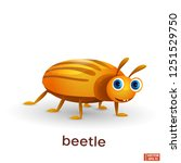 vector image of an insect. cute ... | Shutterstock .eps vector #1251529750