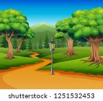 cartoon of forest background... | Shutterstock .eps vector #1251532453