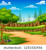 cartoon of forest background... | Shutterstock .eps vector #1251532456