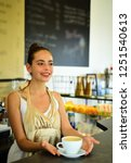 happiness begins with coffee.... | Shutterstock . vector #1251540613