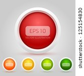 vector web buttons pack | Shutterstock .eps vector #125154830