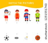 matching children educational... | Shutterstock .eps vector #1251551743