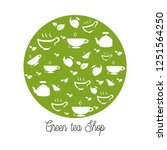 green tea shop logo   Shutterstock .eps vector #1251564250