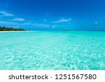 tropical beach in maldives with ... | Shutterstock . vector #1251567580