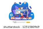 online delivery service. order... | Shutterstock .eps vector #1251580969