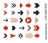 infographic arrows pack | Shutterstock .eps vector #1251587539