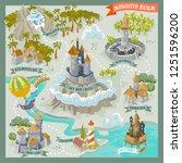 fantasy land adventure map for... | Shutterstock .eps vector #1251596200