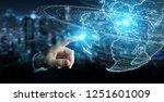 businessman on blurred... | Shutterstock . vector #1251601009