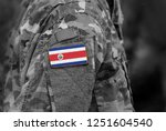 flag of costa rica on soldiers... | Shutterstock . vector #1251604540