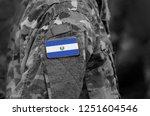 flag of el salvador on soldiers ... | Shutterstock . vector #1251604546