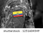 flag of ecuador on soldiers arm.... | Shutterstock . vector #1251604549