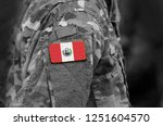 flag of peru on soldiers arm.... | Shutterstock . vector #1251604570