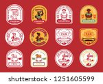 local farmer badge design with... | Shutterstock .eps vector #1251605599