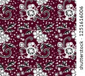 seamless pattern with little... | Shutterstock .eps vector #1251616006
