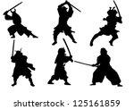 the set of samurai warrior...