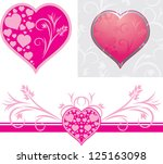 ornamental hearts for design to ... | Shutterstock .eps vector #125163098