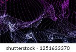 colorful background of flowing... | Shutterstock . vector #1251633370