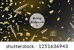 modern christmas tinsel... | Shutterstock .eps vector #1251636943