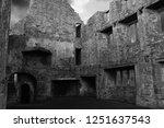 Egglestone Abbey Ruins In Blac...