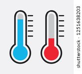 cold weather thermometer icon... | Shutterstock .eps vector #1251638203