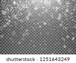 magic holiday snowfall template.... | Shutterstock .eps vector #1251643249