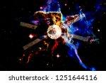 spacecraft launch into space.... | Shutterstock . vector #1251644116