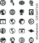 solid black vector icon set  ... | Shutterstock .eps vector #1251647110