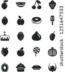 solid black vector icon set  ... | Shutterstock .eps vector #1251647533