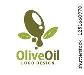 olive oil logo template design... | Shutterstock .eps vector #1251660970