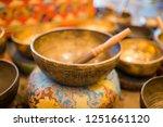 singing bowl tibetan nepalese... | Shutterstock . vector #1251661120