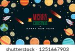 merry christmas and happy new... | Shutterstock .eps vector #1251667903
