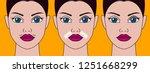 girls mustache  cosmetic defect ... | Shutterstock .eps vector #1251668299