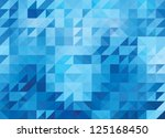blue bright abstract triangles... | Shutterstock .eps vector #125168450