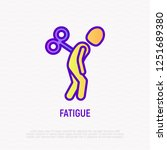 fatigue thin line icon  tired... | Shutterstock .eps vector #1251689380