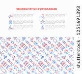 rehabilitation for disabled...   Shutterstock .eps vector #1251691393