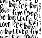 hand drawn romantic typography... | Shutterstock .eps vector #1251692410