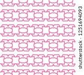 seamless geometric ornamental... | Shutterstock .eps vector #1251694093