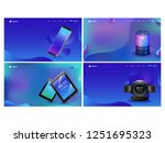set of hero shots with... | Shutterstock .eps vector #1251695323