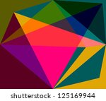 abstract colorful origami... | Shutterstock .eps vector #125169944