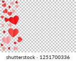 red hearts confetti background. ... | Shutterstock .eps vector #1251700336