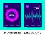 electronic music movement... | Shutterstock .eps vector #1251707749