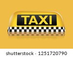 taxi sign on yellow background | Shutterstock . vector #1251720790