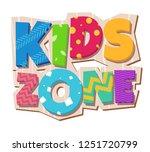 kids zone banner | Shutterstock . vector #1251720799